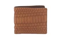 Hipster Genuine Python Wallet Matte Cognac