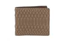 Hipster Genuine Python Wallet Matte Mink