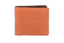 Hipster Genuine Python Wallet Matte Orange