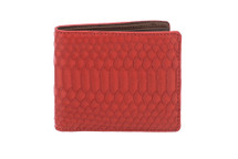 Hipster Genuine Python Wallet Matte Red