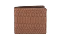 Hipster Genuine Python Wallet Matte Saddle