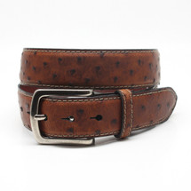 Genuine Ostrich Belt Waxed Saddle