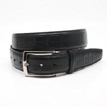 Genuine Caiman Belt Matte Black
