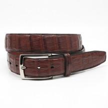Genuine Caiman Belt Matte Cognac