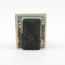Genuine Elephant Magnetic Money Clip Charcoal