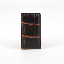 Genuine Crocodile Magnetic Money Clip Brown/Cognac
