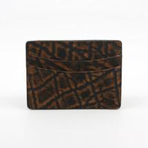 Genuine Elephant Card Case Cognac