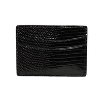 Genuine Lizard Card Case Black