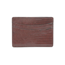 Genuine Lizard Card Case Brown
