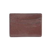 Genuine Lizard Card Case Brown