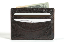 Genuine Crocodle Credit Card Case