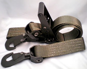 Ratchet Straps Military Grade 2'' x 12' w/Swivel Snap Hooks