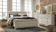 Bellaby Whitewash 5 Pc. King Panel Bed Collection