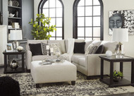 Hallenberg Fog LAF Loveseat, Armless Chair, RAF Sofa with Corner Wedge Sectional & Accent Ottoman