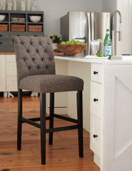 Tripton Graphite Tall Upholstered Barstool(Set of 2)