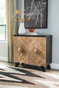 Robin Ridge Two-tone Brown Door Accent Cabinet