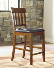 Ralene Medium Brown Upholstered Barstool(Set of 2)