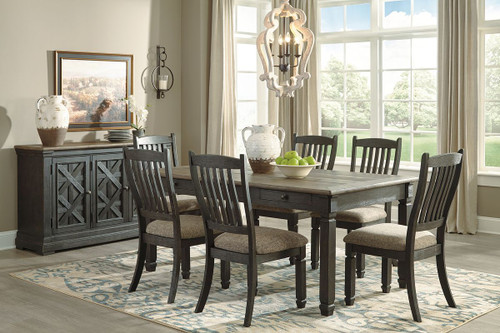 ... Dining Room Table, 6 UPH Side Chairs U0026 Server. Image 1
