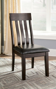 Haddigan Dark Brown Dining Upholstered Side Chair(Set of 2)