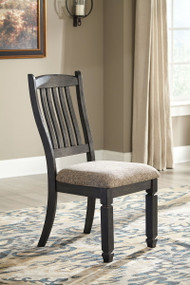 Tyler Creek Black/Grayish Brown Dining UPH Side Chair (2/CN)