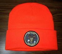 Blaze Orange Hunting Cap Turdy Point Buck Double Knit Watch Cap with Deer Patch