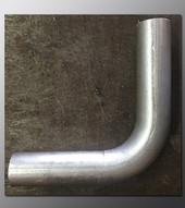 Mandrel Bend - 2.50 Inch OD Tube .065 wall - 90 Degree Aluminized