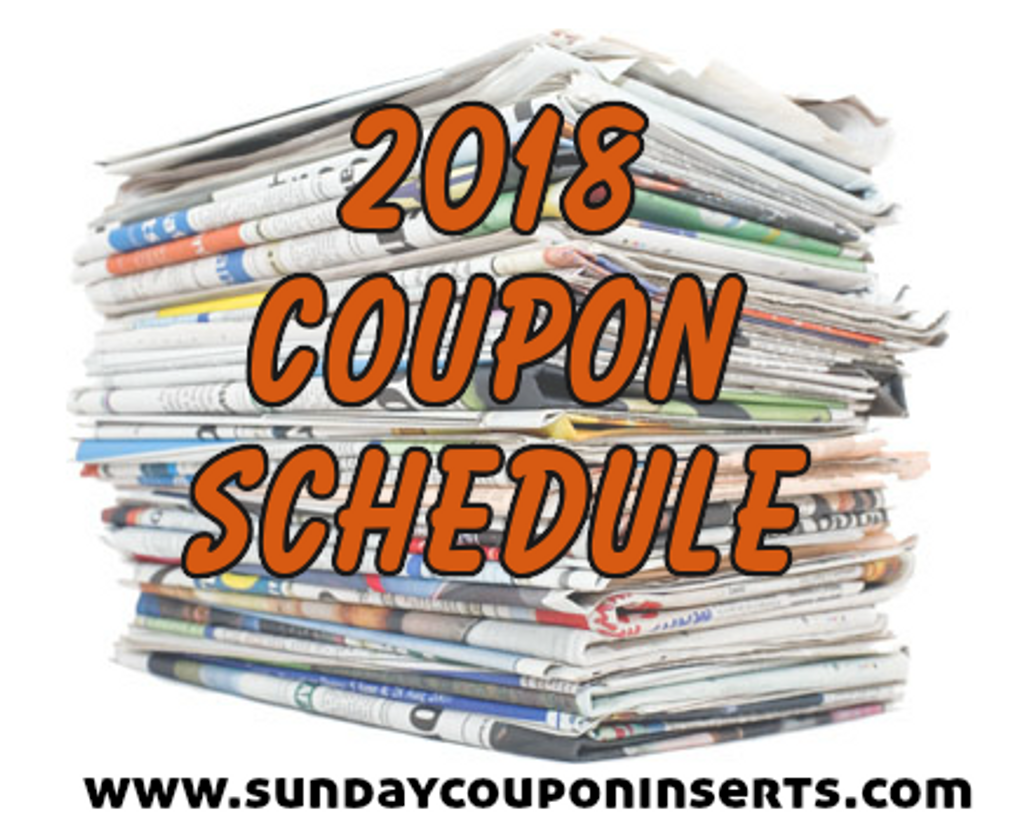 2018 Coupon Schedule