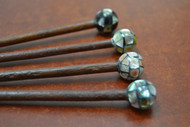 Assort Mother Of Pearl Shell Wood Hairsticks