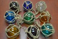 """Reproduction Glass Float Fishing Ball With Rope 4"""""""