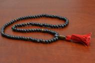 Brown Tibetan Buddhish Buffalo Bone Mala Prayer Beads 6mm