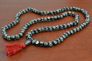 Swirl Carved Tibetan Buddhish Buffalo Bone Mala Prayer Beads 10mm
