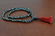 Dotted Tibetan Buddhish Buffalo Bone Mala Prayer Beads 6mm