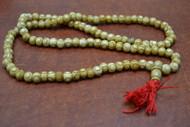 Carved Circle Tibetan Buddhish Buffalo Bone Mala Prayer Beads 8mm