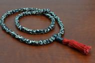 Swirl Tibetan Buddhish Buffalo Bone Mala Prayer Beads 6mm