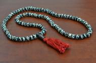 Swril Brown Tibetan Buddhish Buffalo Bone Mala Prayer Beads 8mm