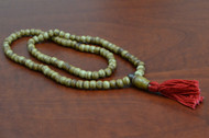 Coffee Brown Tibetan Buddhish Buffalo Bone Mala Prayer Beads 6mm