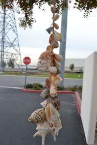 """Assort Mix Seashell Wired Garden Wall Hanger 26"""""""