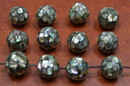 Abalone Shell Round Beads 15mm