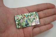 Flat Abalone Shell Blank Inlay Black Back 2 1/4""