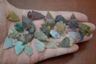 "Tiny Small Assortment Agate Stone Spearpoint Arrowheads 1/2"" - 3/4"""
