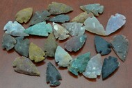 "Small Assortment Agate Stone Spearpoint Arrowheads 1"" - 1 1/2"""