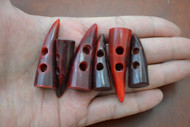 Red Buffalo Horn Toggle Buttons