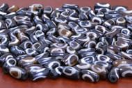 Chocolate Brown Batik Circle Bone Tube Beads 12mm