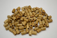 Coffee Brown Bone Tube Beads 8mm