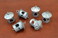 "Handmade Gray Farm Iron Bells 2"""