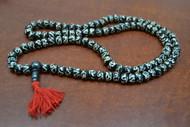 Chocolate Brown Tibetan Buddhish Buffalo Bone Mala Prayer Beads 8mm