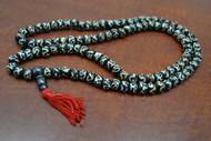 Chocolate Brown Tibetan Buddhish Buffalo Bone Mala Prayer Beads 10mm