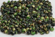Dyed Green Round Buffalo Bone Beads 6mm