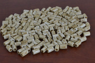Coffee Brown Carved Cross Buffalo Bone Tube Beads 7mm