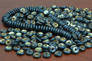 Chocolate Brown Round Buffalo Bone Beads 14mm